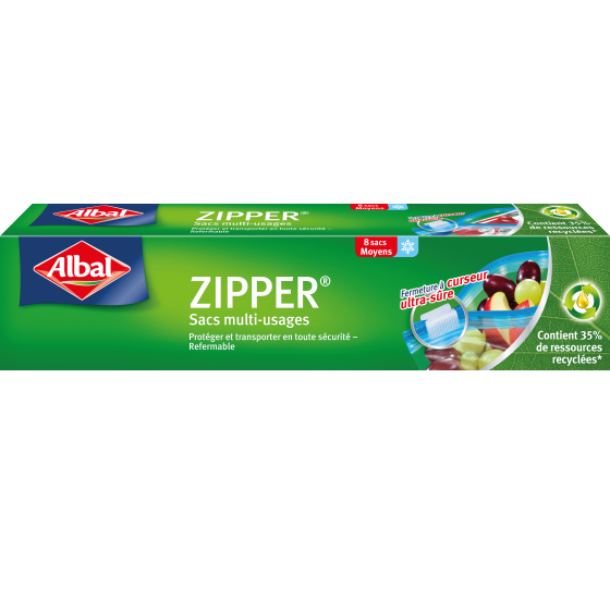 Sacs Zipper 8 MM