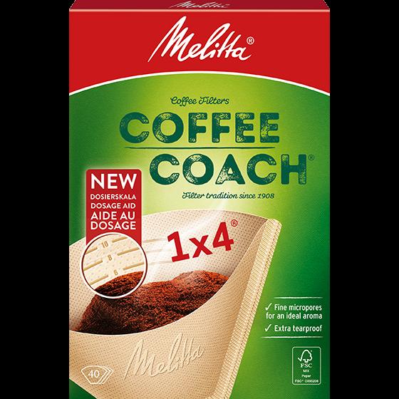 Melitta® Filtertüten® Coffee Coach®, 1x4®, Braun, 40 St.