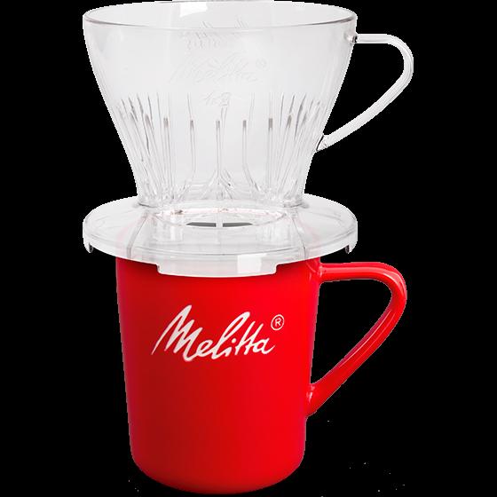 Kaffeefilter 1x2® transparent & Melitta® Porzellanbecher
