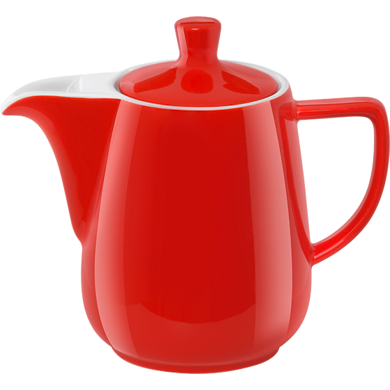Pour Over Porzellankanne 0,6l rot