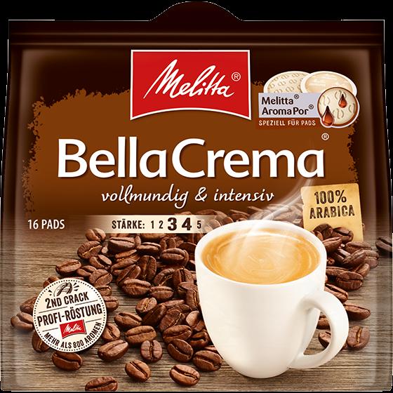 Bella Crema vollmundig und intensiv Pads