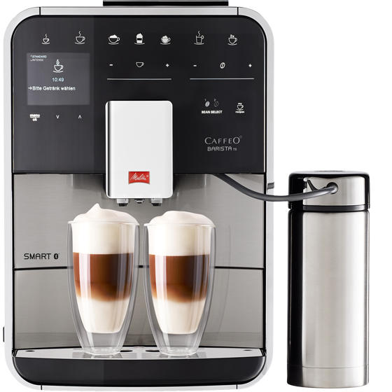 machine expresso automatique barista ts smart acier inoxydable melitta boutique en ligne. Black Bedroom Furniture Sets. Home Design Ideas
