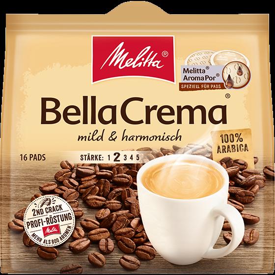Bella Crema mild und harmonisch Pads