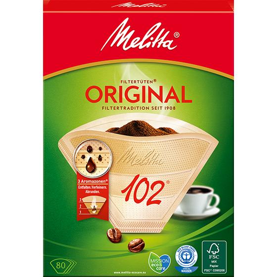 Filtres caf melitta original 102 bruns melitta - Moulin a cafe melitta ...